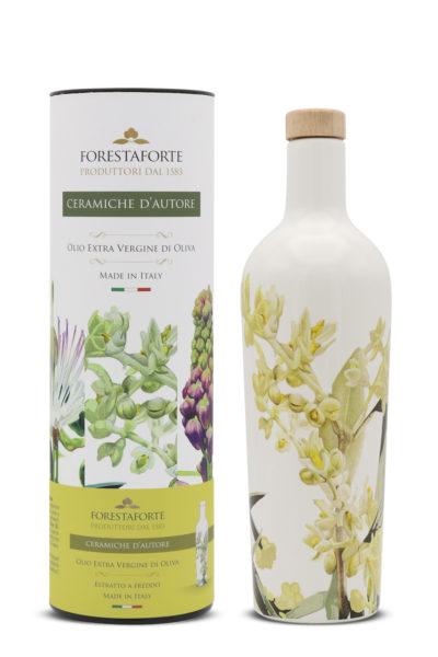 bottiglia ceramica olio extravergine oliva